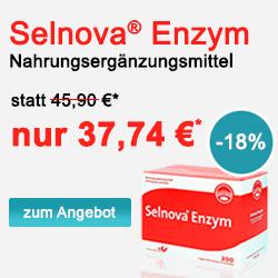 Senova Enzym - Enzymkombination mit Selen, welches zur normalen Funktion von Immunsystem und zum Zellschutz vor oxidativem Stress beiträgt.