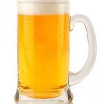 Frisches Bier im Glas