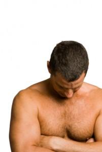 Muscular mature man.