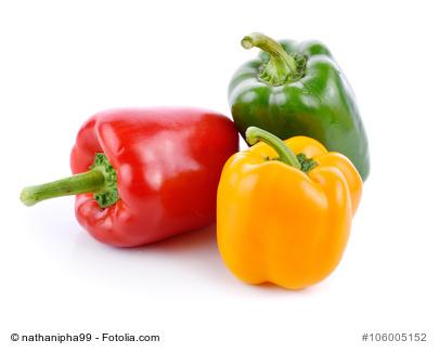 Der bunte Paprika mit seinen kräftigen Farben regt unseren Appetit an.