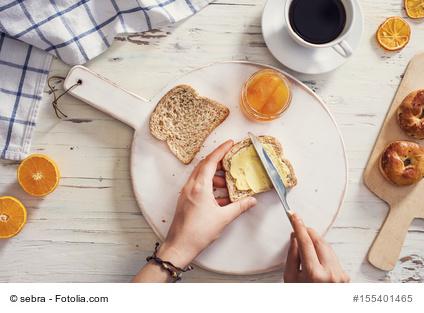 Margarine und Brot