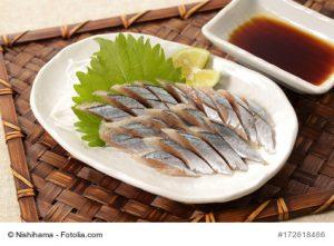 Fisch, japanisch angerichtet
