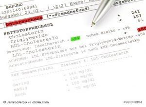 Zu hohe Cholesterin- und Blutfettwerte