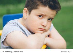 Übergewichtiger Junge