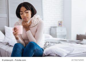Halsschmerzen - viel trinken hilft