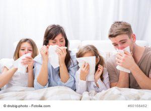 Erkrankte Familie