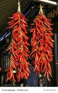 Chilischoten trocknen