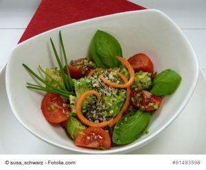 Salat mit Chai-Samen