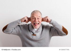 Großvater macht Spaß