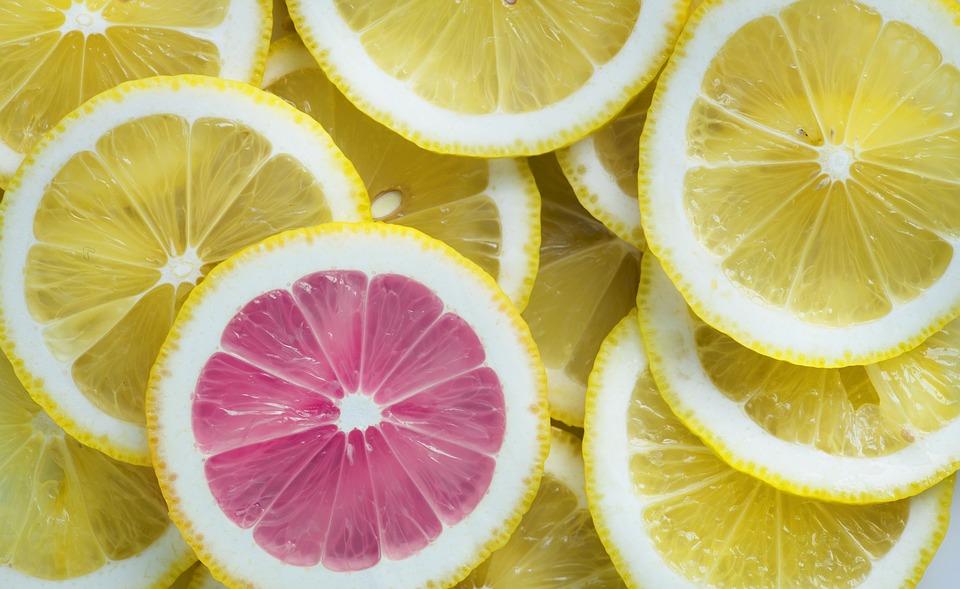 Zitrone und Grapefruit