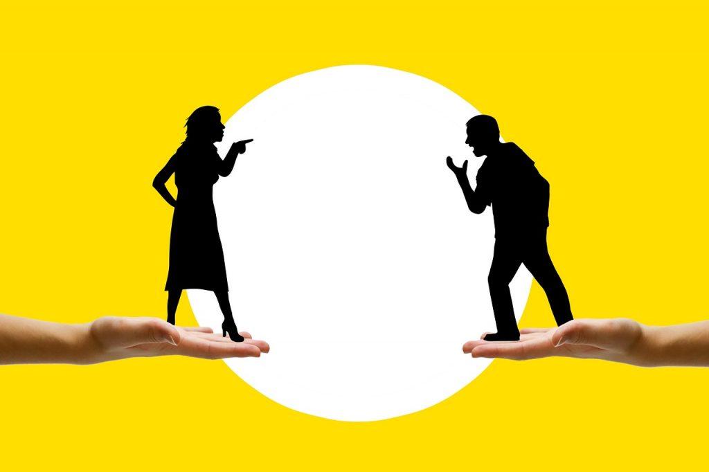 Streitendes Ehepaar