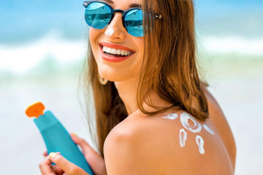 Sonnenschein und Sonnenschutz