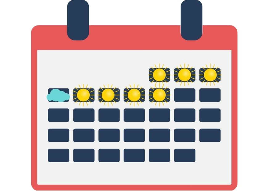 Sonne-Wolken-Kalender