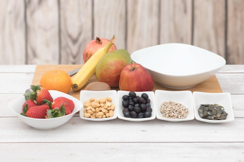 Zutaten für einen Obstsalat
