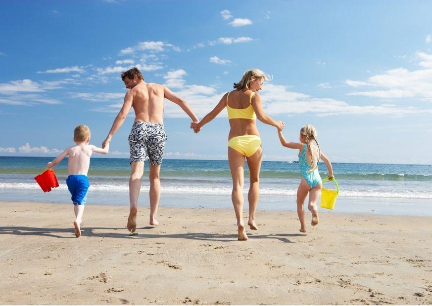 Badeurlaub mit Familie