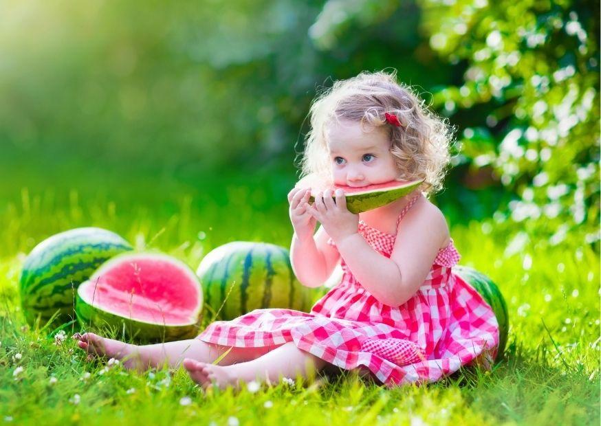 Wassermelone genießen