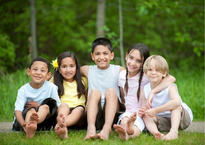 Im Freien ist der richtige Ort für Kinder
