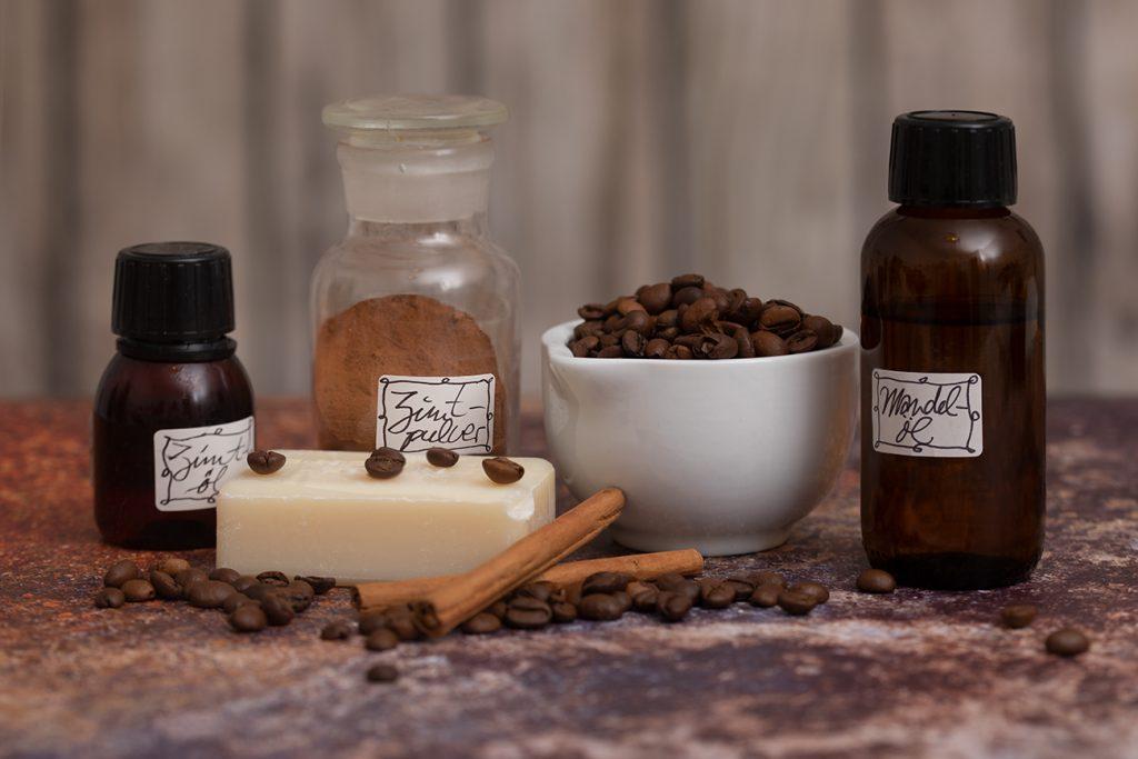 Zutaten für die Kaffee-Zimt-Seife
