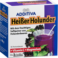 ADDITIVA heißer Holunder Pulver - 10X10g - Vitamindrinks