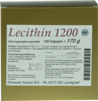 LECITHIN 1200 Kapseln - 100St - St�rkung f�r das Ged�chtnis