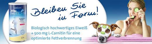 SANFORM vital Eiweiß Drink Himbeere Vanille Pulver (420 g