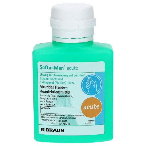 B Braun Softa Man Acute Handedesinfektion 100 Ml Flasche