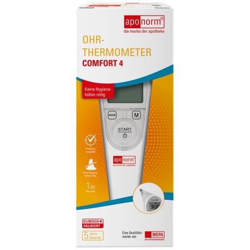 Hilfsmittel Baby Aponorm Comfort 3 Ohr-thermometer Infrarot Fieberthermometer Kinderthermometer