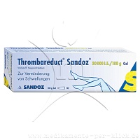 THROMBAREDUCT Sandoz 30.000 I.E. Gel - 100g - Heparinpr�parate