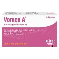 VOMEX A Kinder-Suppositorien 40 mg - Erkältung & Fieber