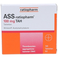 ASS-ratiopharm 100 mg TAH Tabletten - 100St - Blutverdünnung