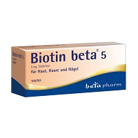 BIOTIN BETA 5 Tabletten - 100St - Vitamine & Stärkung