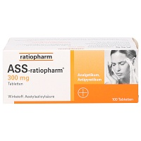 ASS-ratiopharm 300 mg Tabletten - 100St - Blutverdünnung