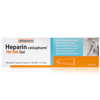 HEPARIN-RATIOPHARM 180.000 I.E. Gel - Heparinpräparate