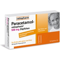 PARACETAMOL ratiopharm 500 mg Kindersuppositorien - 10St - Grippe & Fieber