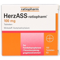 HERZASS ratiopharm 100 mg Tabletten - 100St - Blutverdünnung