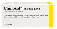CHINOSOL 1,0 g Tabletten - 20St - Hautpflege
