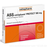 ASS ratiopharm Protect 100 mg magensaftr.Tabletten - 50St - Blutverdünnung