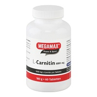 L-CARNITIN 1000 mg Megamax Tabletten - 60St - Power & Sport