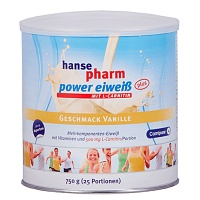 HANSEPHARM Power Eiweiß plus Vanille Pulver - Energy-Drinks