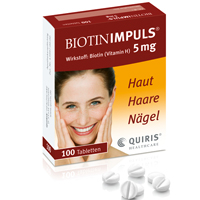 BIOTIN IMPULS 5 mg Tabletten - 100St - Vitamine & Stärkung