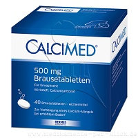 CALCIMED 500 mg Brausetabletten - 40St - Calcium
