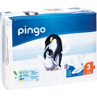 BIO WINDELN midi 4-9 kg Pinguin PINGO SWISS - Windeln