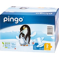 BIO WINDELN mini Jumbo 3-6 kg Pinguin PINGO SWISS - Windeln