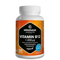 VITAMIN B12 1.000 µg hochdosiert vegan Tabletten - Stress & Burnout