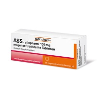ASS-ratiopharm 100 mg magensaftres.Tabletten - Blutverdünnung